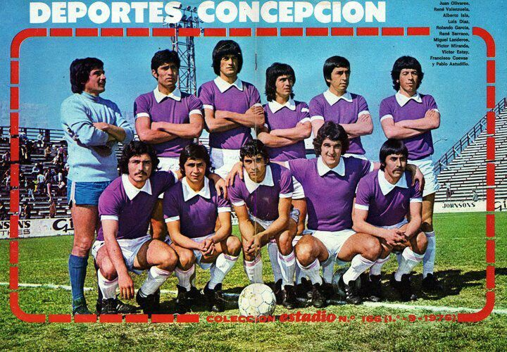 Deportes Concepcion of Chile team group in 1976.