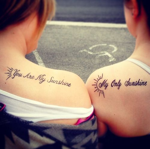 You are my Sunshine, My Only Sunshine | Tatspiration.com - Your home for discovering tattoo ideas and tattoo inspiration.