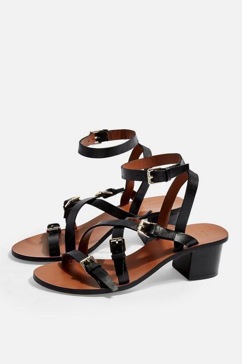 41458592ebd8b VIRGO Black Buckle Sandals in 2019   Kicks   Sandals, Black sandals ...