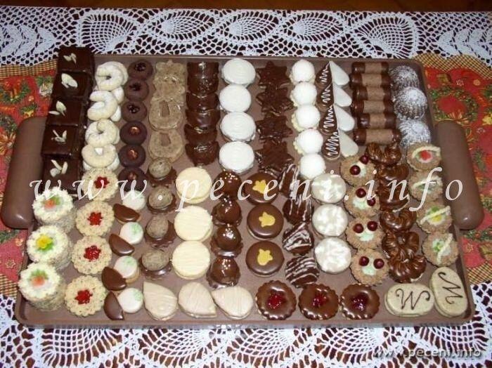 drobné cukroví - vánoční