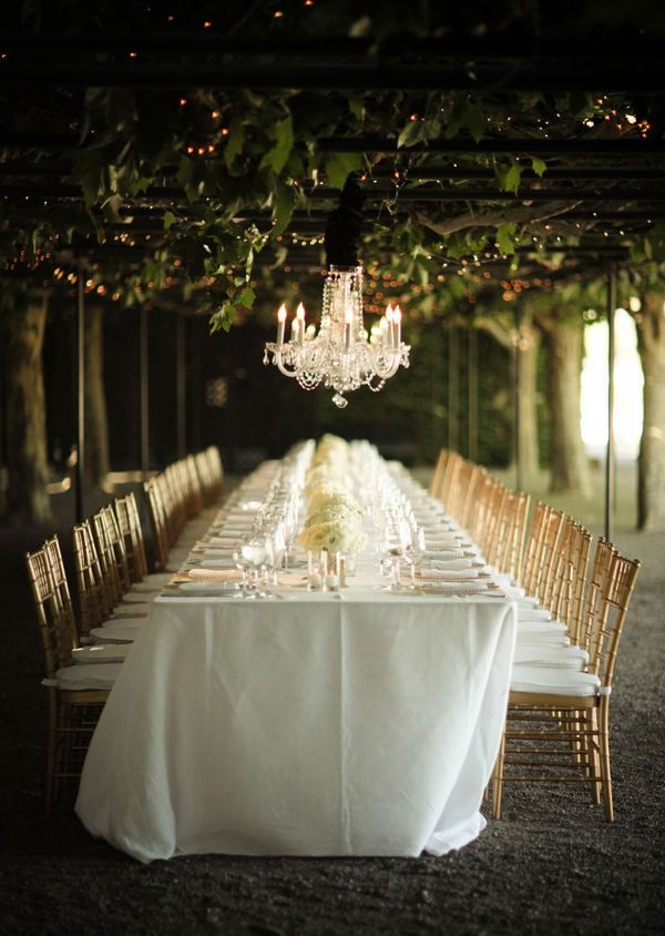 chic romantic wedding table setting