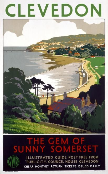 Great Western railway travel poster, Clevedon