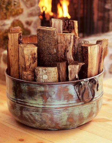 Rustic decor for the cabin this winter.