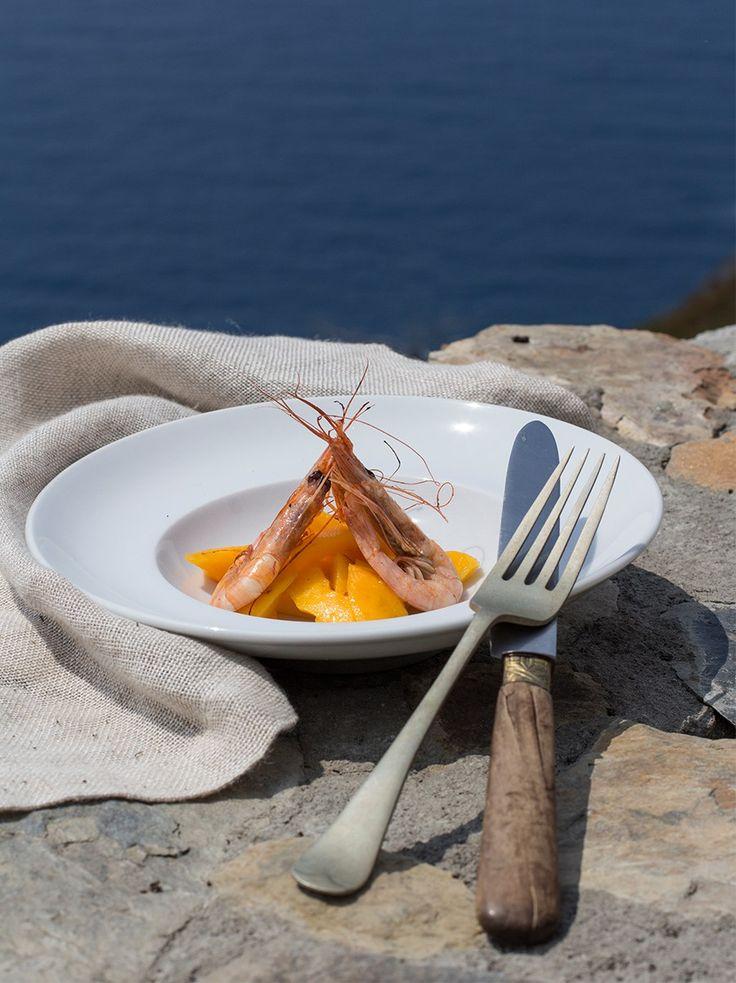 #Gamberi con #Mango #ricetta #food #recipe