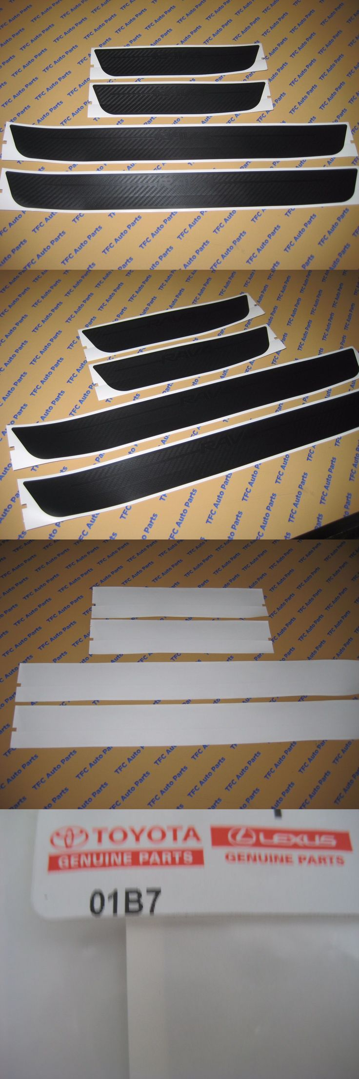 Auto parts general toyota rav4 door sill protectors kit genuine oem factory new 2013