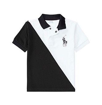 Polo Ralph Lauren® Boys' 2T-7 Mesh Banner Top