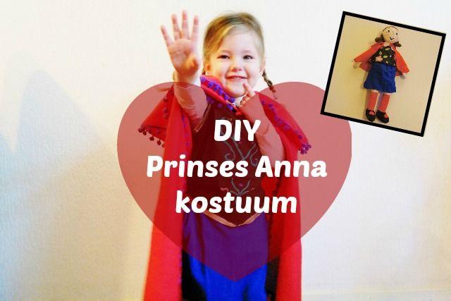Met deze DIY kan je zelf eenvoudig een Frozen jurk maken van prinses Anna. Leuk als kostuum voor carnaval.