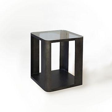 Metal Radius Side Table