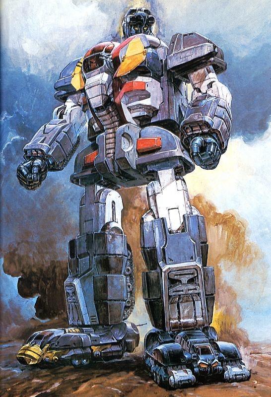 Super Robot Vintage Illustrations by 高荷義之