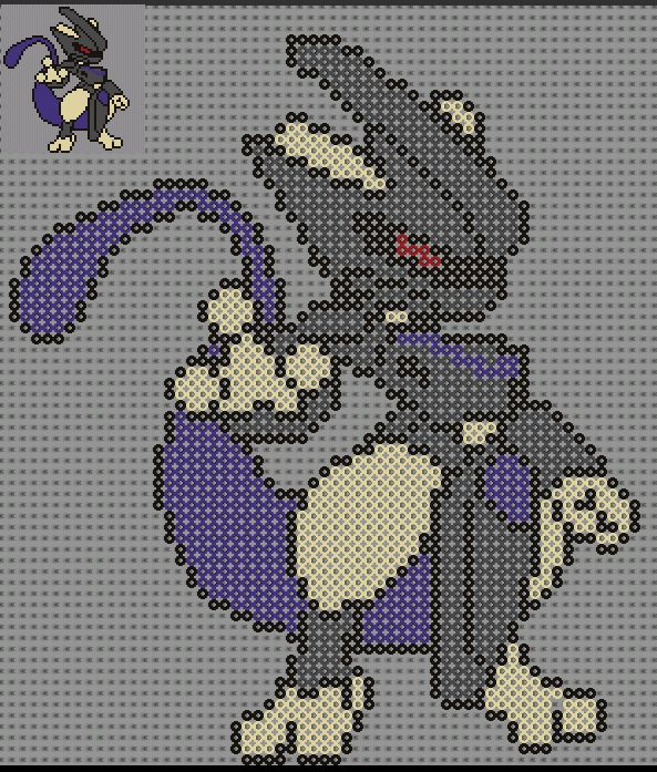 Mewtwo pokemon perler bead pattern by sebastien herpin for Comment repasser vite et bien