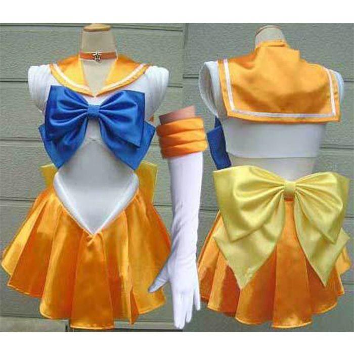 Sailor Moon cosplay costume Mina dress Sailor Venus cosplay costume