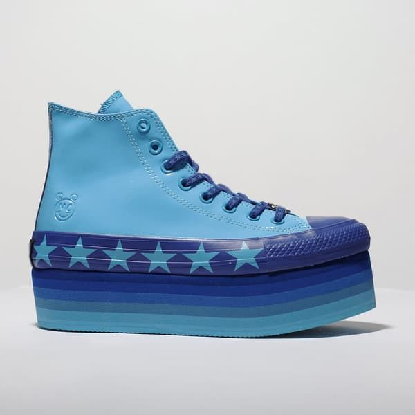 womens blue converse platform hi x