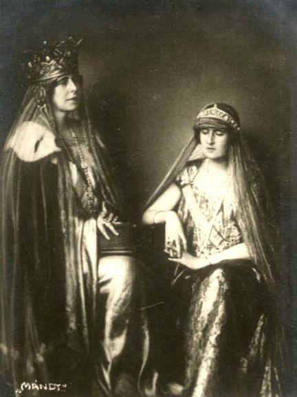 Queen Marie of Romania and Queen Elisabeth of Greece.