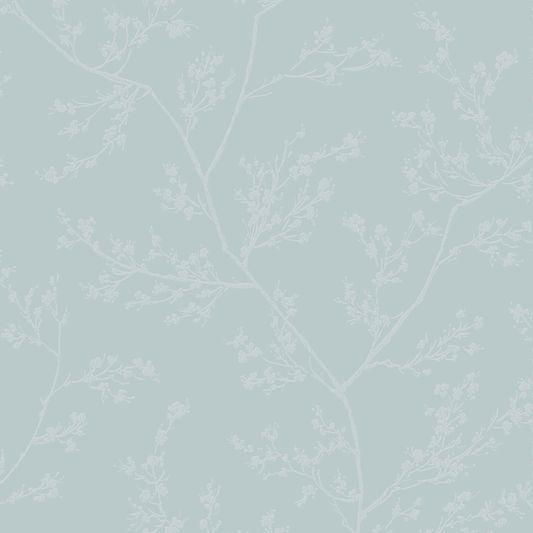 Springtime Blue and Grey Wallpaper