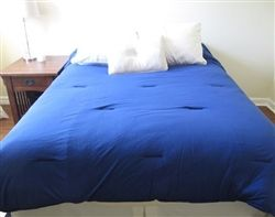 Jersey Knit Twin XL College Comforter - Blue
