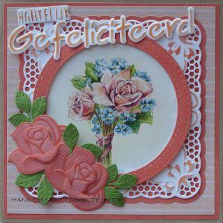 Trijntjes Kaarten: Kaart met  oranje rozen