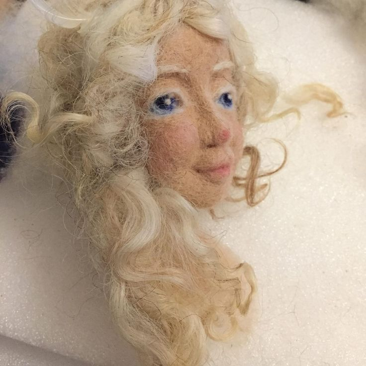 WIP, Auril, needle felted Art Doll by Woll Z Art