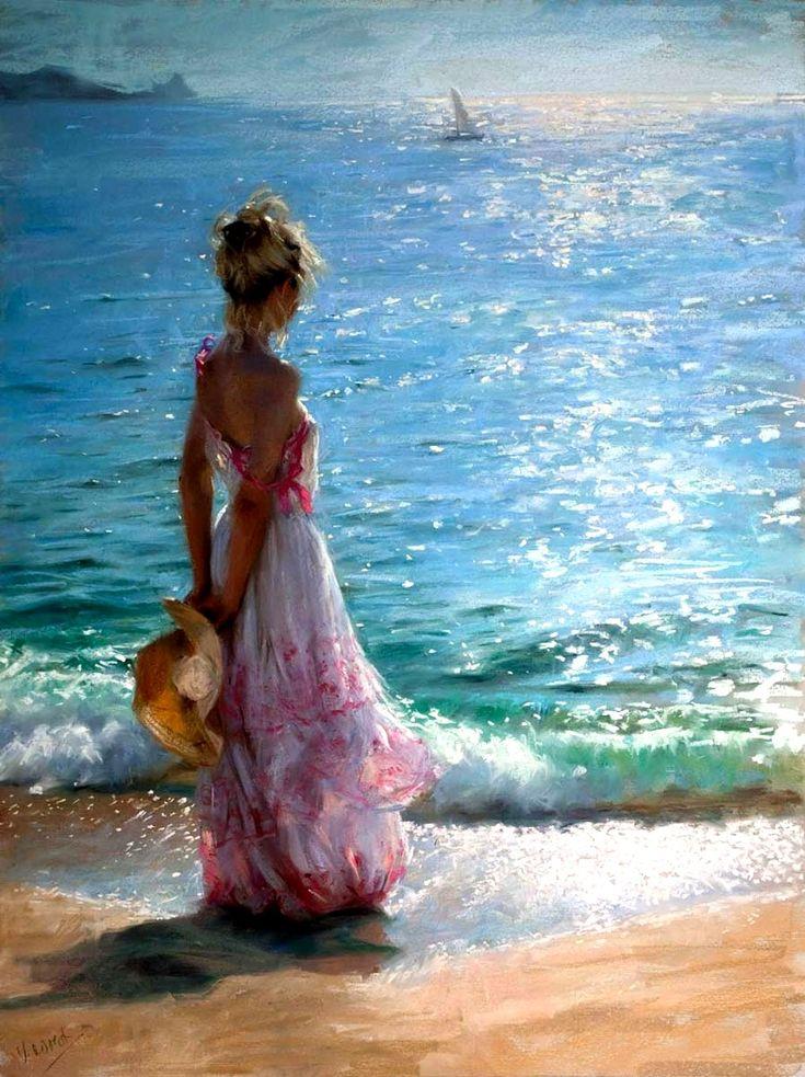 .Girl at the Seashore - Konstantin Razumov