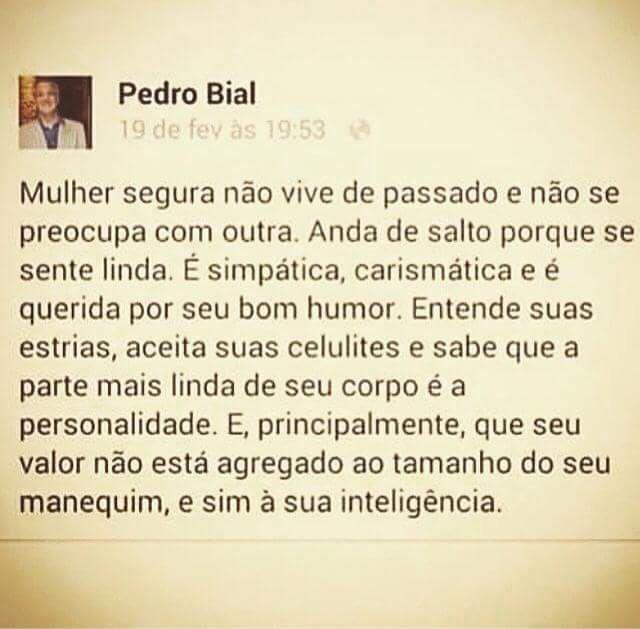 Mas esse Pedro Bial é um fofo, não?!!