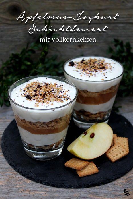 Apfelmus Joghurt Schichtdessert