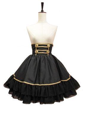 ゴシックロリータのコルセットスカートをお探しでしたらMagical HolicマジカルホリックのGiselleコルセットスカートの黒がおすすめです。コルセットスカートが通販できます。  - ATELIER-PIERROT アトリエピエロ