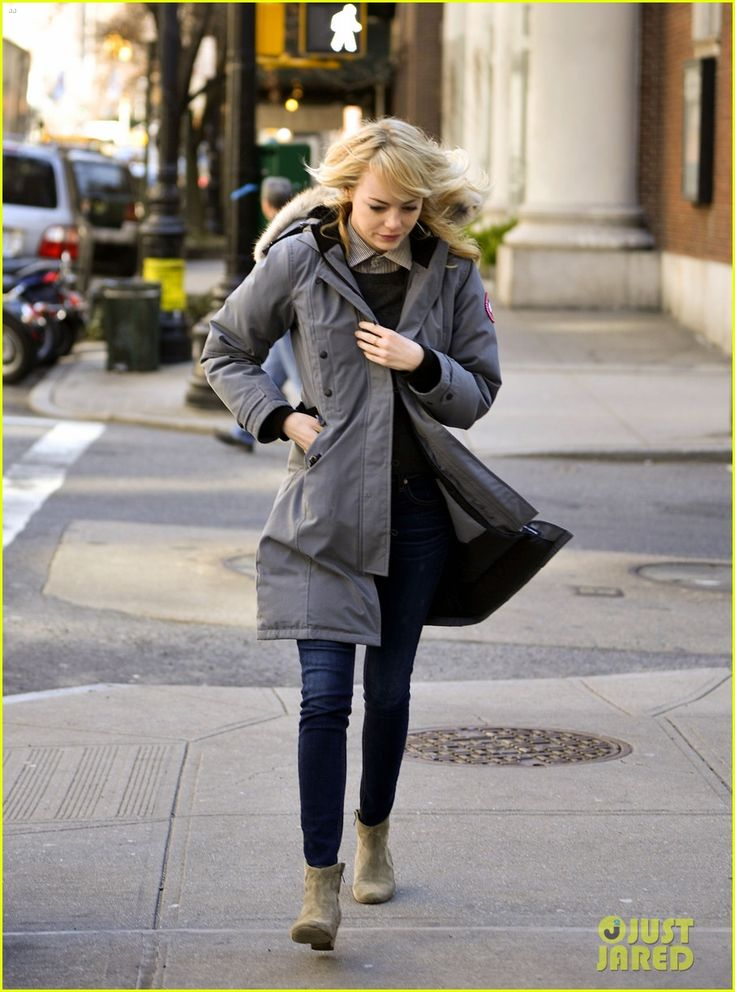 Canada Goose chateau parka replica official - Emma Stone. Canada Goose Kensington Parka | Brr It's Cold in Here ...