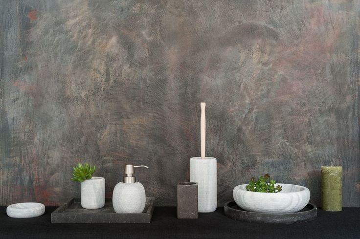Ikea Duschkorb : Wundersch?n gemaserter, massiver Marmor in einem hellen Grau hat
