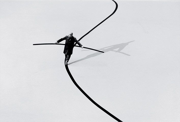 Les Rencontres d' #Arles 2013 photography festival: #GilbertGarcin's Le funambule (The Tightrope Walker) (2002)  #photo #photographie #photographer #photography #photographe #OlivierOrtion #festival