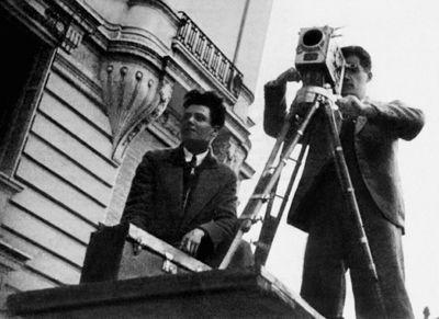 Jean Vigo (left) and Boris Kaufman. Co-directors ofÀ propos de Nice, Kaufman also served as cinematographer on Vigo's Zéro de conduite and co-cinematographer (with Louis Berger and Jean-Paul Alphen) on L'Atalante