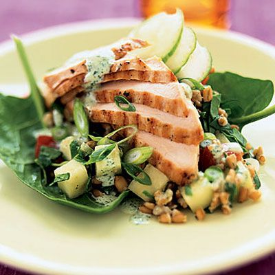 Grilled Chicken and Wheat-Berry Salad - 20 Skinny Main-Dish Salads - Health Mobile