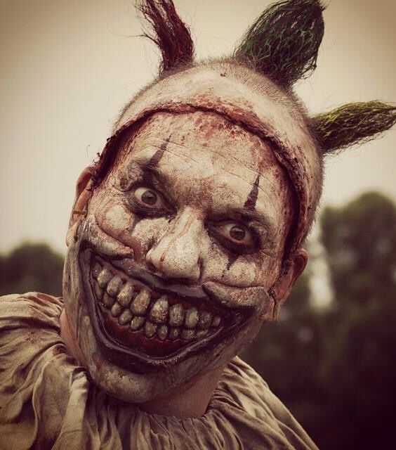 AHS Twisty the clown, He's so delightfully wonderful. He kind of reminds me of the clown from House of a Thousand Corpses. I can't remember his name... darn it. >_<
