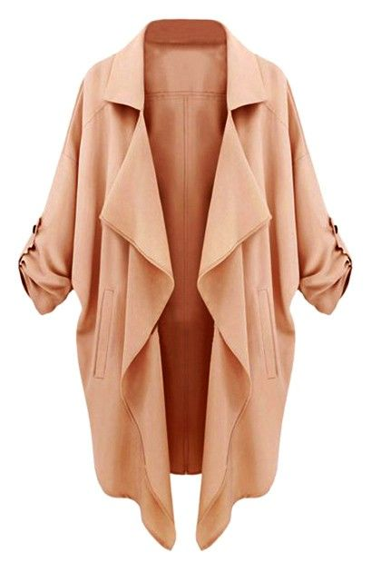 Peachy Coat With Half Sleeves