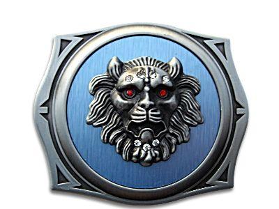 ROMAN LION SURVIVOR KIT ANIMAL BLUE BELT BUCKLE LIGHTER