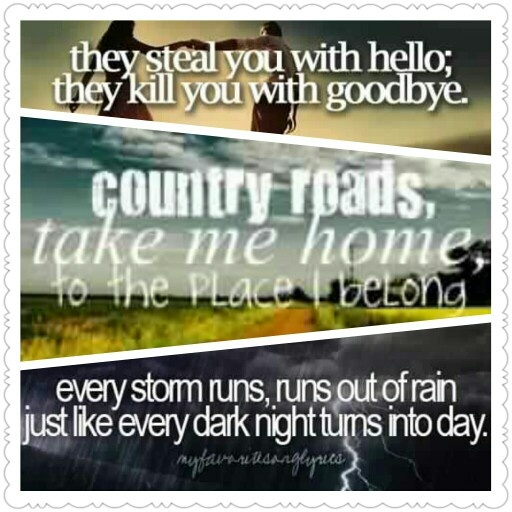 Country Lyrics The Middle One Is One Of West Virginias Songs Btw