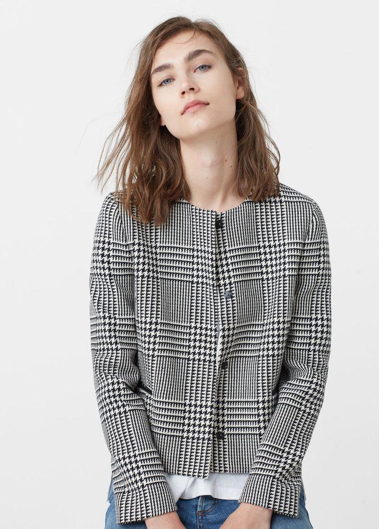 Printed cotton jacket - Jackets for Women | MANGO USA