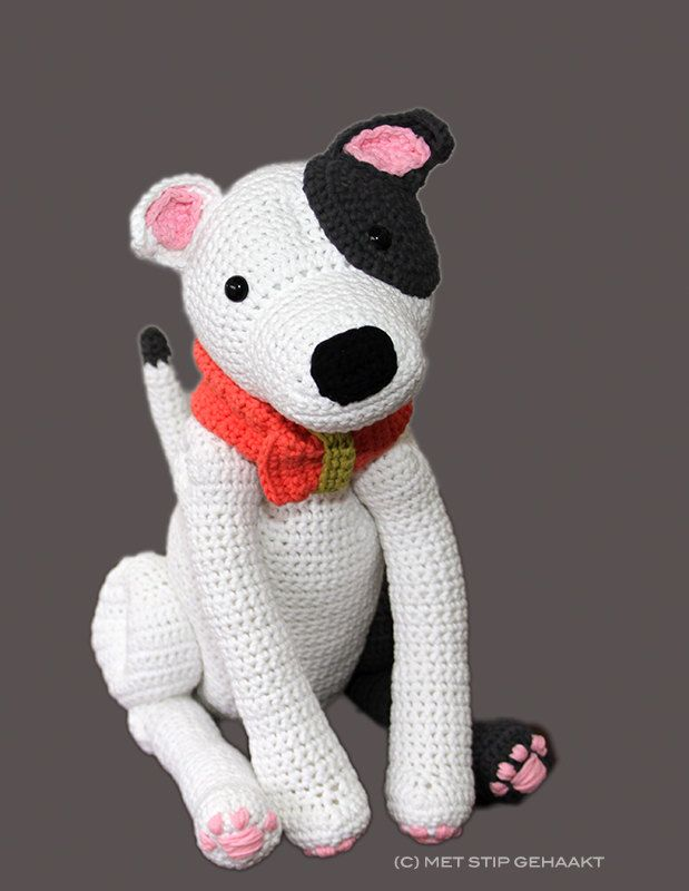 Crochet pattern for Staffordshire Bull Terrier American Staffordshire Terrier Pitbull Terrier (5.50 EUR) by MetStipGehaakt