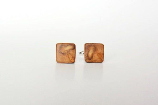Cufflinks from pear tree, wooden cufflinks, cufflinks made of wood, by Mazunii on Etsy