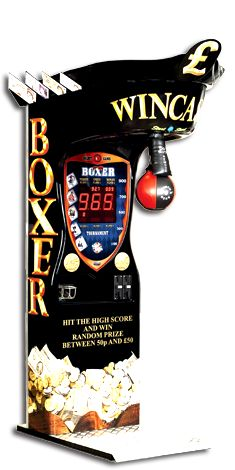 Boxer Wincash gives out prize capsules with cash for high scores.