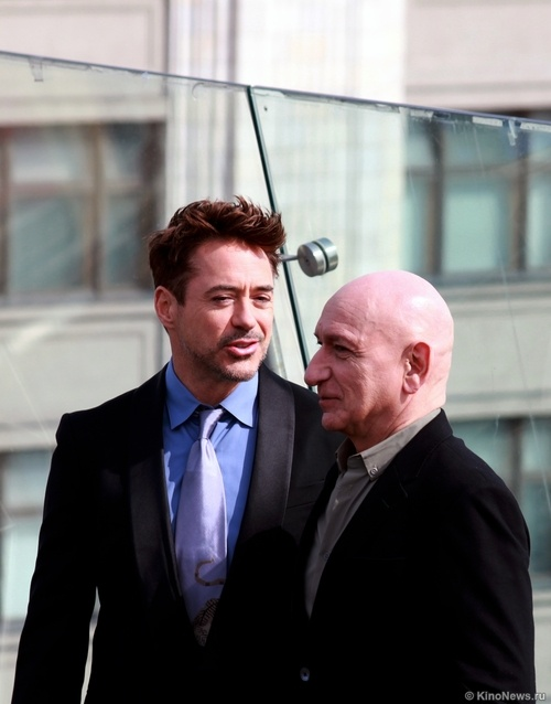 RDJ and Sir Ben Kingsley in Moscow to promote IM 3.
