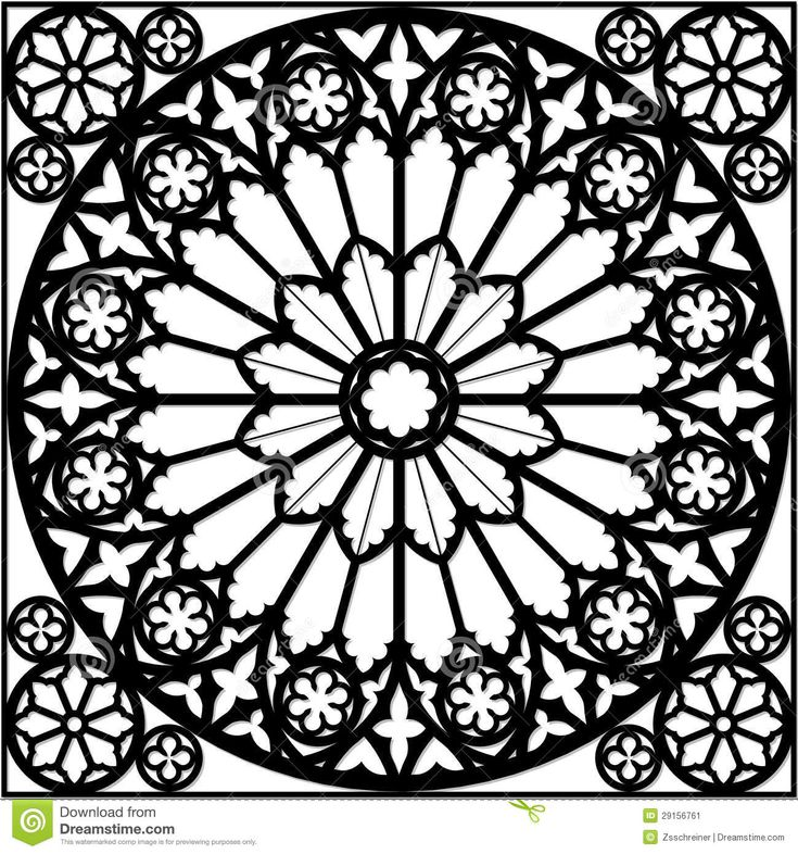 rose window coloring pages - rose window coloring book coloring page