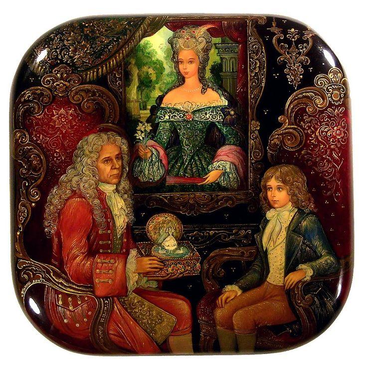 Old House, Palekh lacquered box ~Repinned via Svetlana Antonova http://www.tradestonegallery.com/index.php?content=moreviews