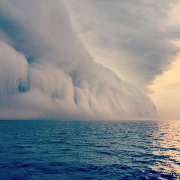 FOX 13's Paul Dellegatto at Georgian Bay This happened over Georgian Bay in Canada this past weekend. Wild looking cloud caused by a very cold rain into a humid atmosphere. Courtesy Kris Kralka via Kim MacDonald @KMacTWN