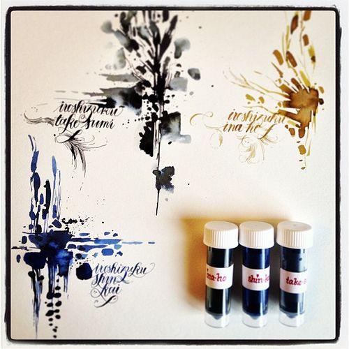 Iroshizuku inks calligraphy work pinterest ink and