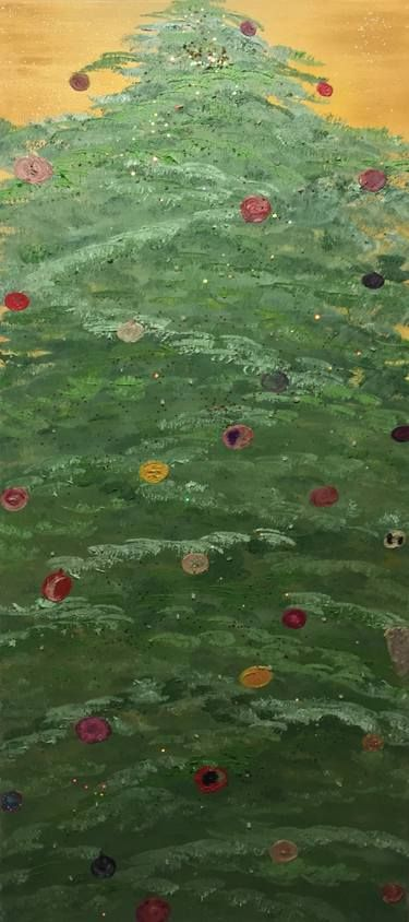 Christmas tree - with remote LED lights (changing colors) Painting