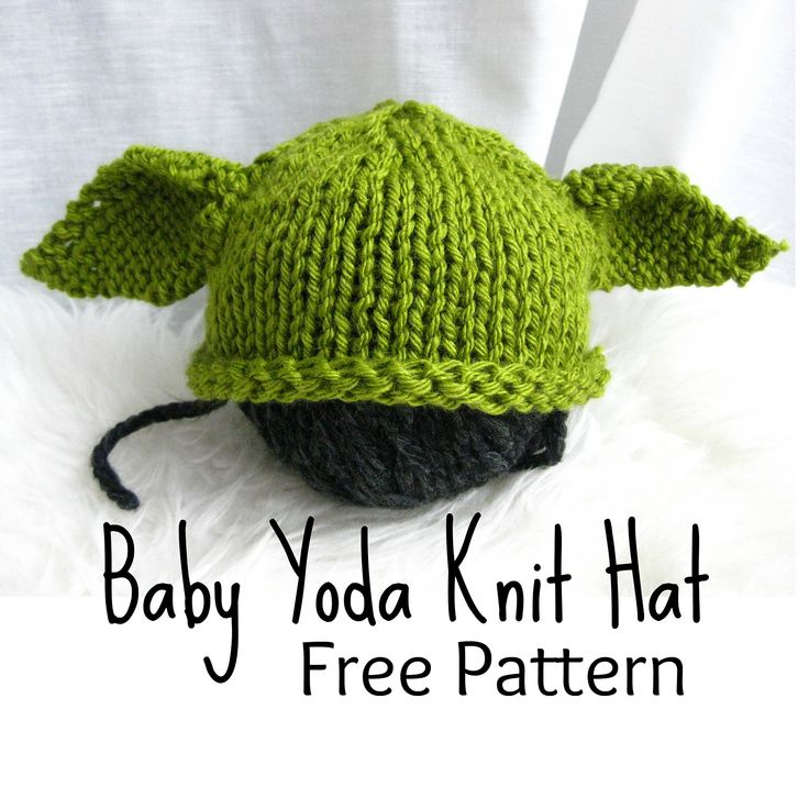 Knit Baby Hat Pattern Pinterest : Ravelry: Baby Yoda Knit Hat pattern by Shinah Chang Baby!!! Pinterest B...