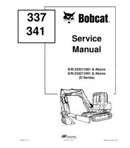 Best download bobcat 337 341 compact excavator service
