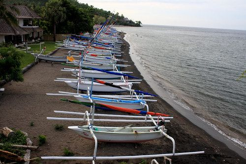 Amed beach : Beach of amed in the morning   awayb