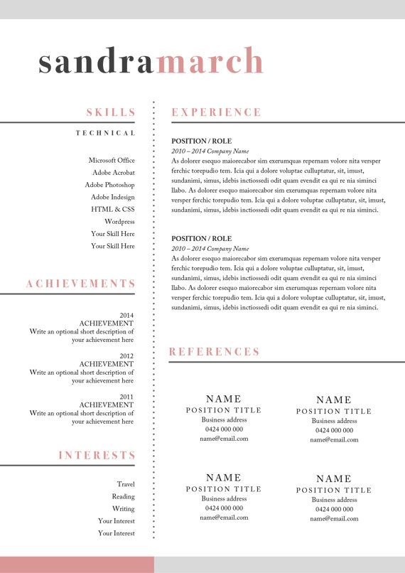 11 best CVs images on Pinterest | Resume templates, Design resume ...