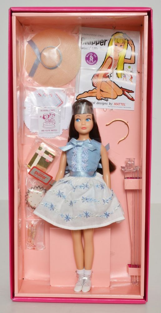 Fancy  Barbie Skipper Brunette Doll BRAND NEW NRFB th Anniversary
