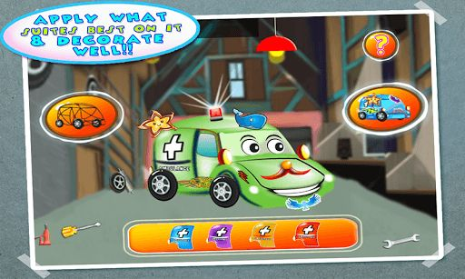 Play as the famous mechanic builder of Car/ Ambulance/ Autos garage in town. Use your mechanic skills to build hospital emergency surgery cars in the workshop. Tap and drag tools to build and welding emergency surgery autos in your garage and workshop. Select design you want to build in your workshop. As builder you got all tools, for welding, repair and construction. Screwdriver and paintbrush all are there. You can also add car body tattoos, stickers, wheels and vinyl too.  We offer you...